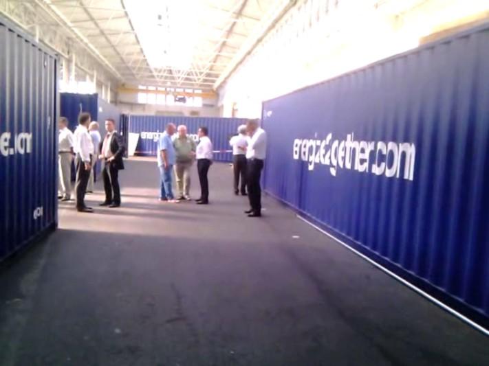 GFE Nürnberg BHKW Container werden vor Ort den Besuchern vorgeführt!